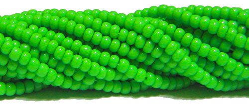 2106 - Seed Beads 11/0 Opaque Lemon Green