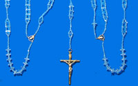 1758 - Lasso Wedding Rosary - Crystal - Double Ladder
