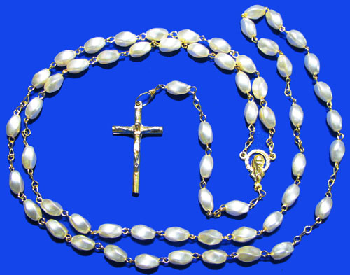 1333 - Pearl Rosary - 204
