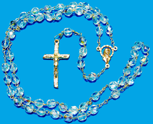 1216 - Fire Polished AB Crystal Rosary