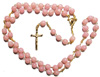 2313 - Glass Rosary - Opal Pink